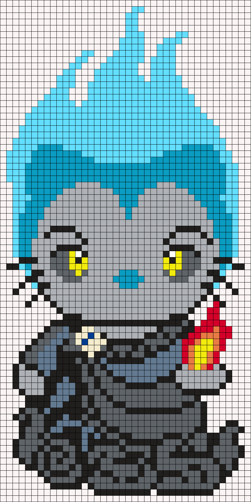 Hades From Hercules Hello Kitty Sq Perler Bead Pattern / Bead Sprite