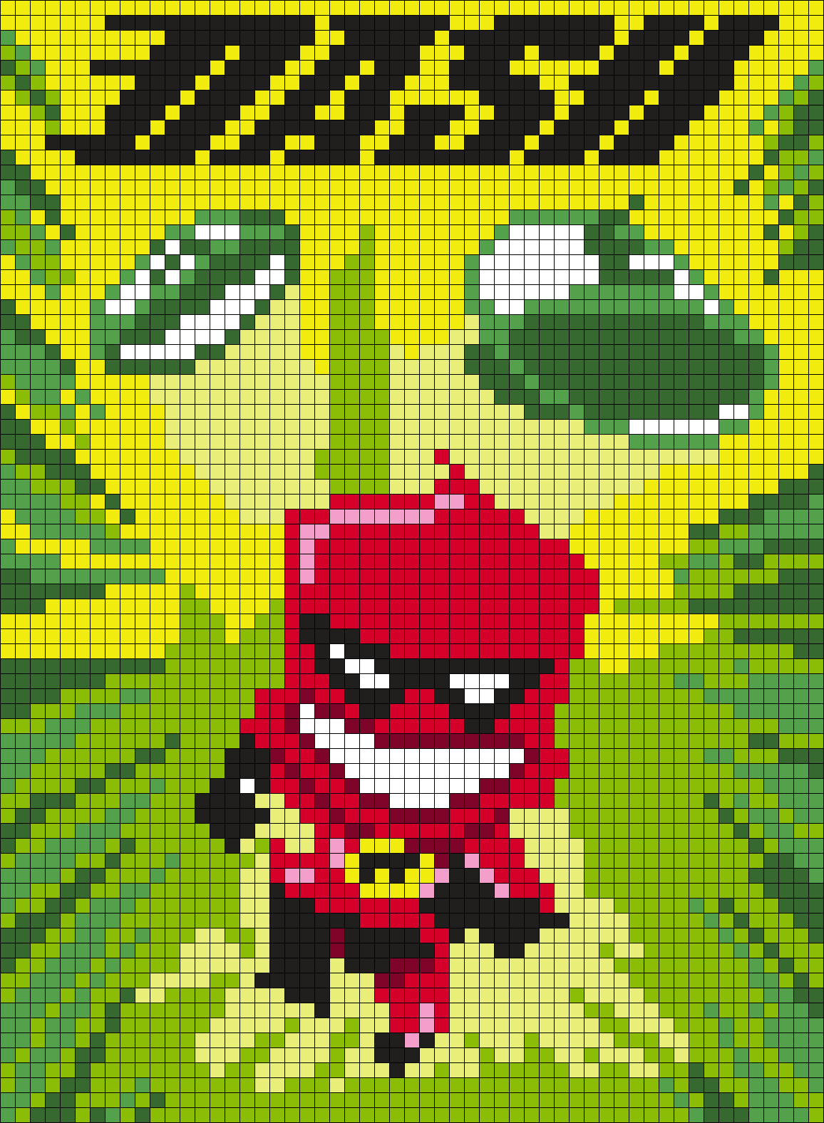 Dash Poster From The Incredibles  Perler Bead Pattern / Bead Sprite