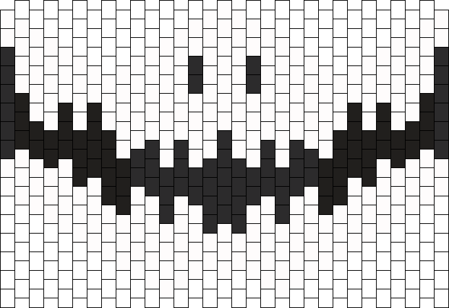 Jack Skellington Mask Bead Pattern