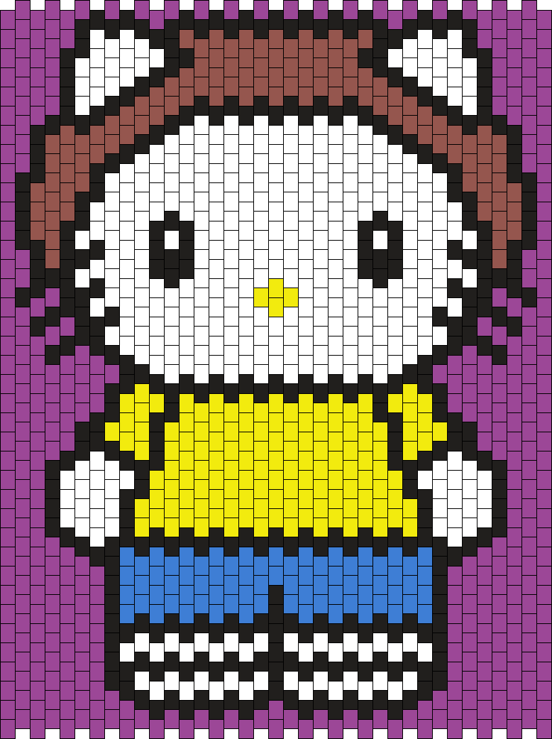 Morty Hello Kitty From Rick And Morty Bead Pattern