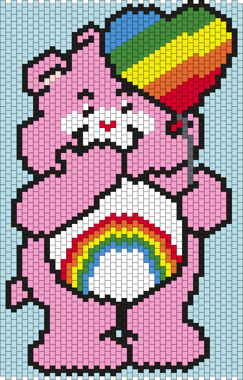 Cheer Bear From Care Bears Smaller Version Bead Pattern