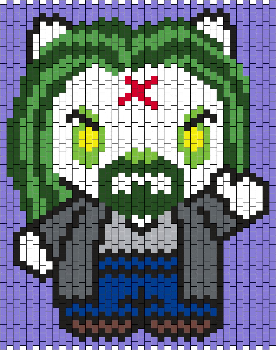 Rob Zombie Hello Kitty  Bead Pattern