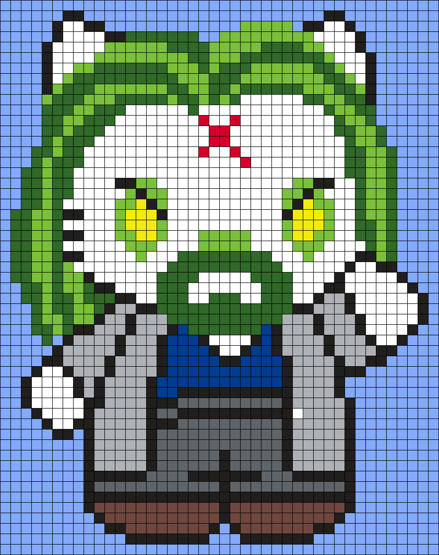 Rob Zombie Hello Kitty Square Pttrn Perler Bead Pattern / Bead Sprite