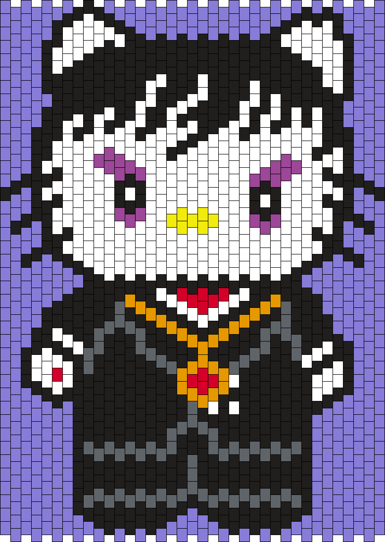 Barnabas Collins Hello Kitty From Dark Shadows Bead Pattern