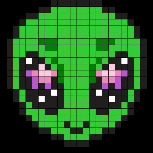 Alien Perler Bead Pattern / Bead Sprite