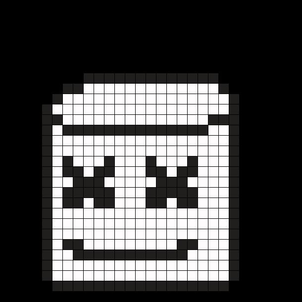Marshmello Perler Bead Pattern / Bead Sprite