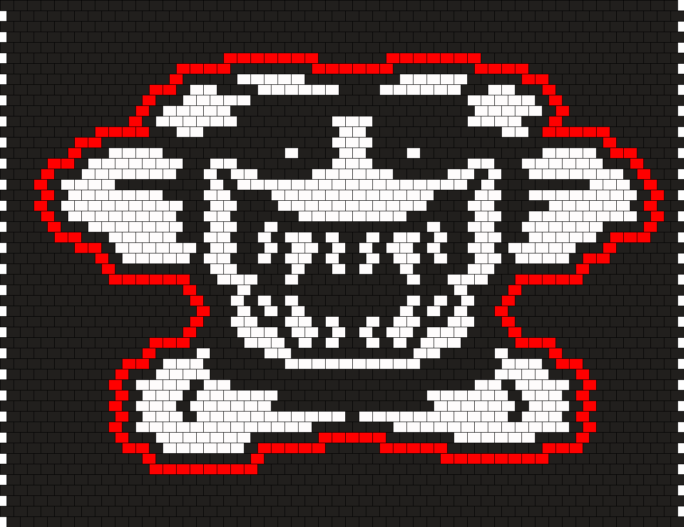 Scary Flowey Face Sprite Bead Pattern