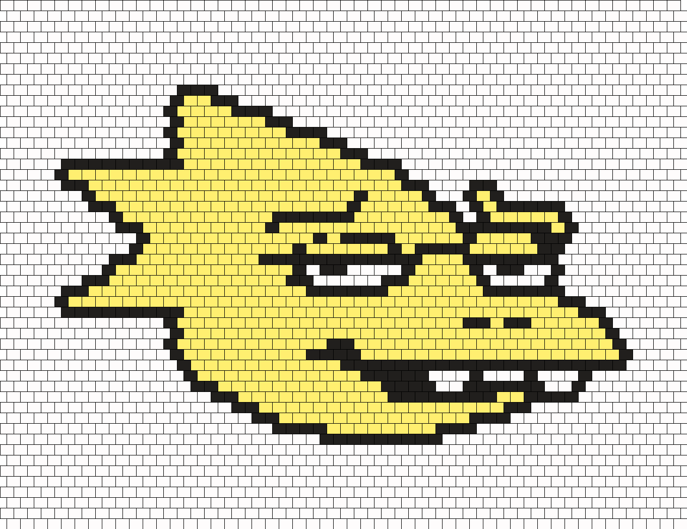 Alternate Color Alphys Face Sprite Bead Pattern