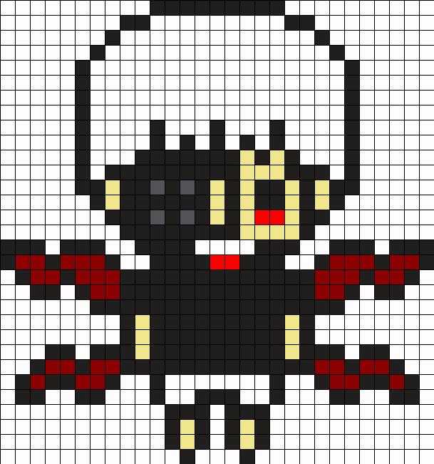 Ken Kaneki Perler Bead Pattern / Bead Sprite