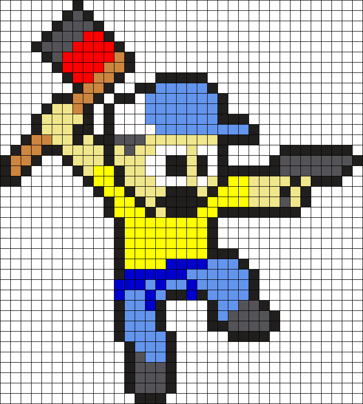 Ellis From L4D2 Perler Bead Pattern / Bead Sprite