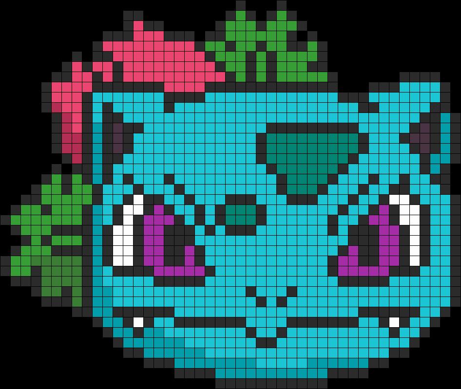 Pokemon Battle Trozei Ivysaur Perler Bead Pattern / Bead Sprite