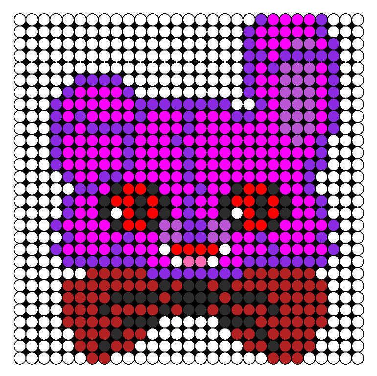 Five Nights At Freddys Bonnie Bunny Perler Perler Bead Pattern / Bead Sprite