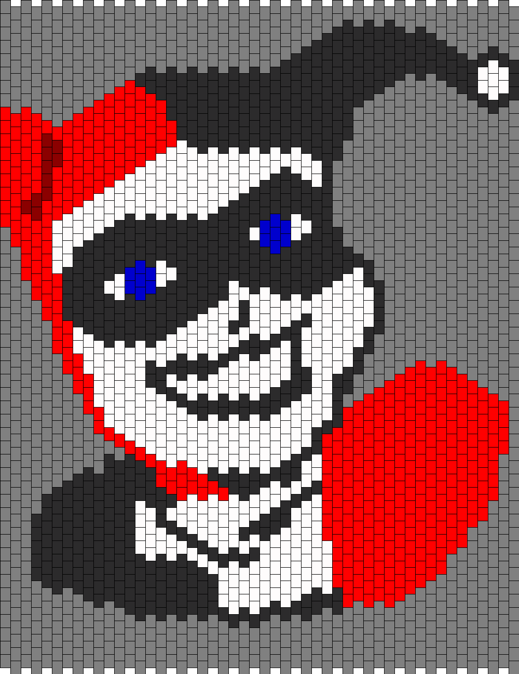 Harley Quinn Panel Bead Pattern