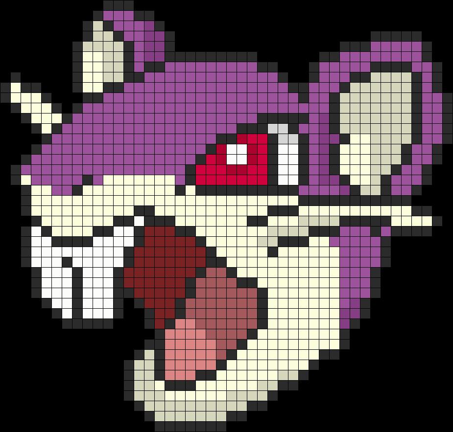 Pokemon Battle Trozei Rattata Perler Bead Pattern / Bead Sprite