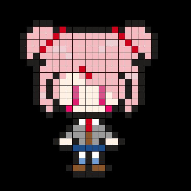 Natsuki DDLC Perler Pattern
