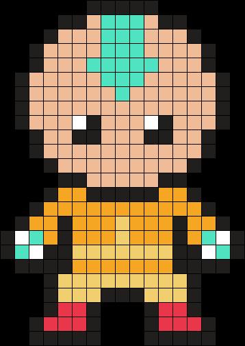 Aang Avatar The Last Airbender Perler Bead Pattern / Bead Sprite