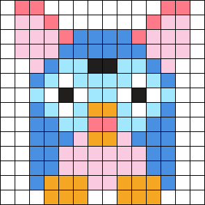 Furby Perler 14 X 14 Sqaure
