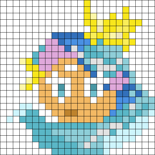 Sea Fairy Cookie Perler