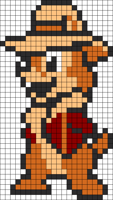 Chip 2 Perler Bead Pattern / Bead Sprite