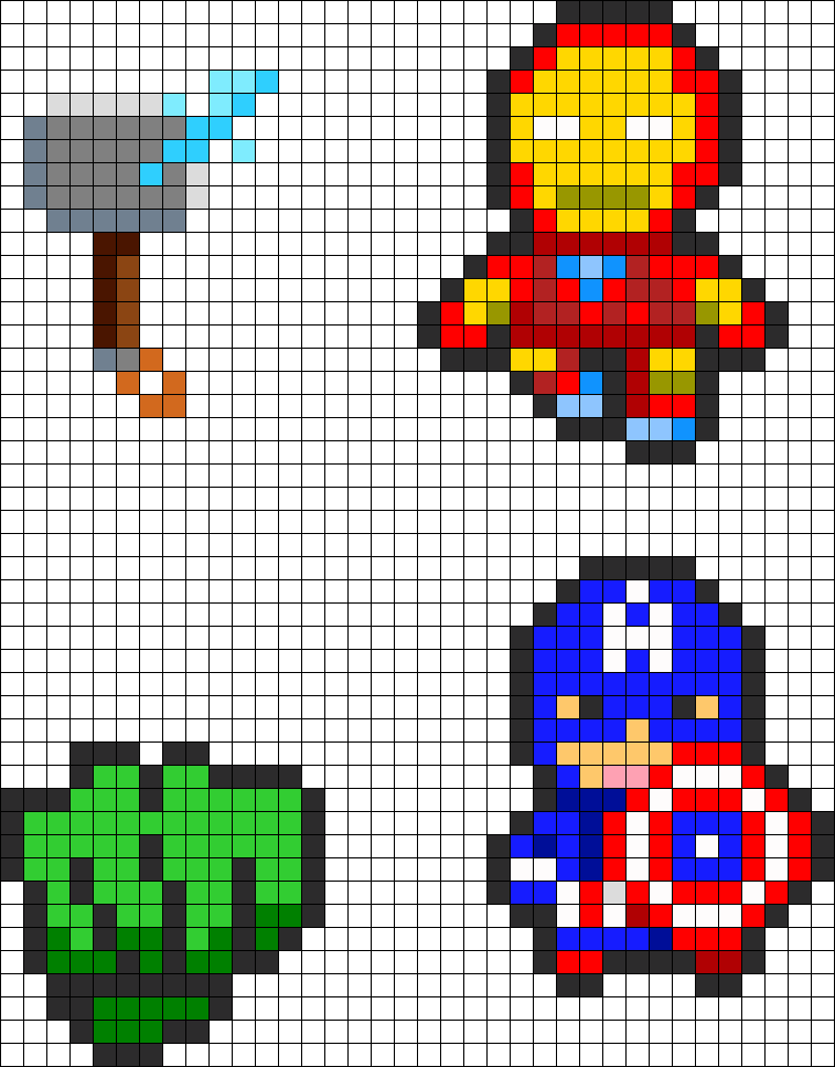Avengers Charms