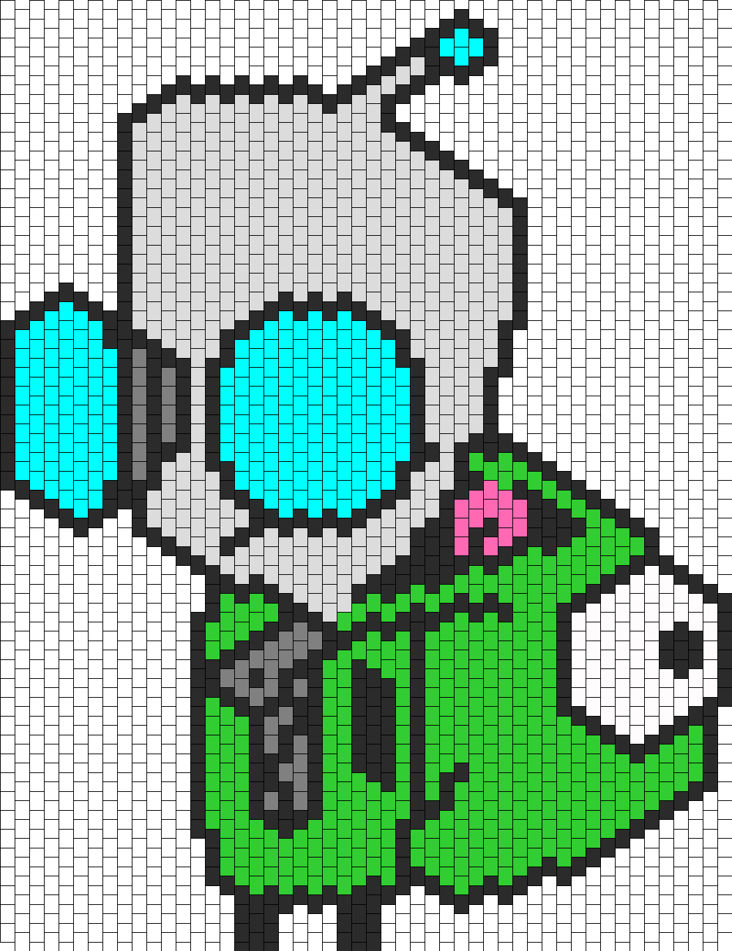 Gir With Dog Suit Bead Pattern