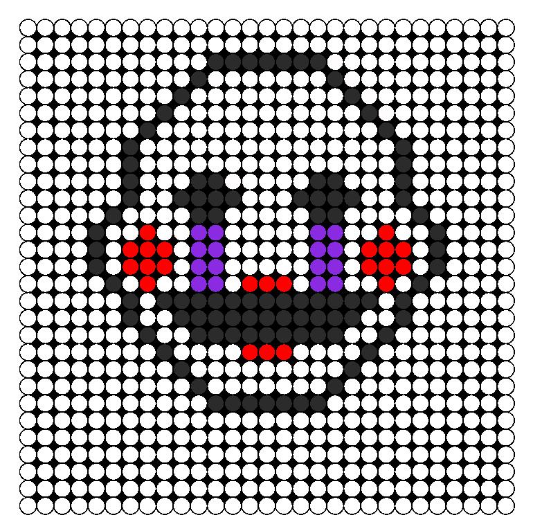 Fnaf 2 Marionette Puppet Perler Bead Perler Bead Pattern / Bead Sprite