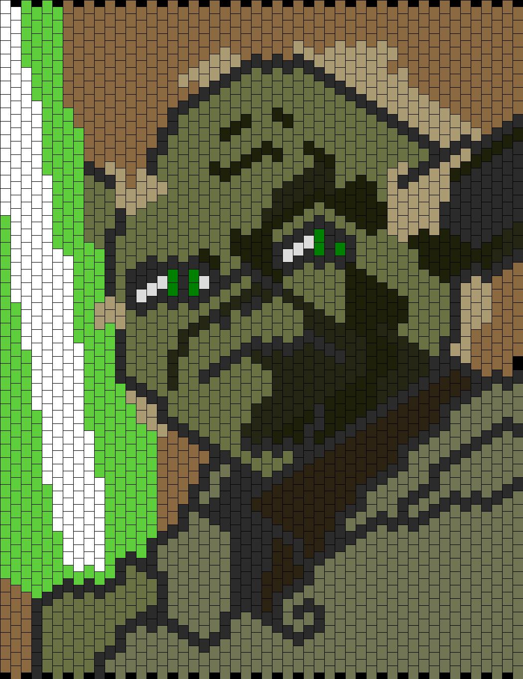 Yoda Bead Pattern