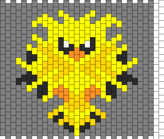 Zapdos Bag Side 1 Bead Pattern