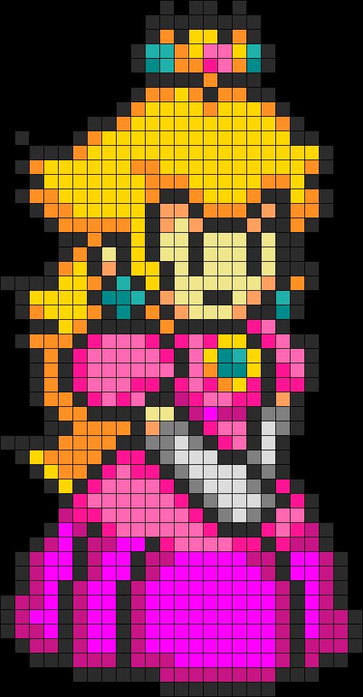 Peach Perler Bead Pattern / Bead Sprite