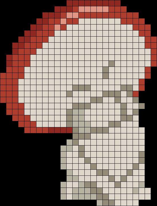 Fantasia Dancing Mushroom Perler Bead Pattern / Bead Sprite