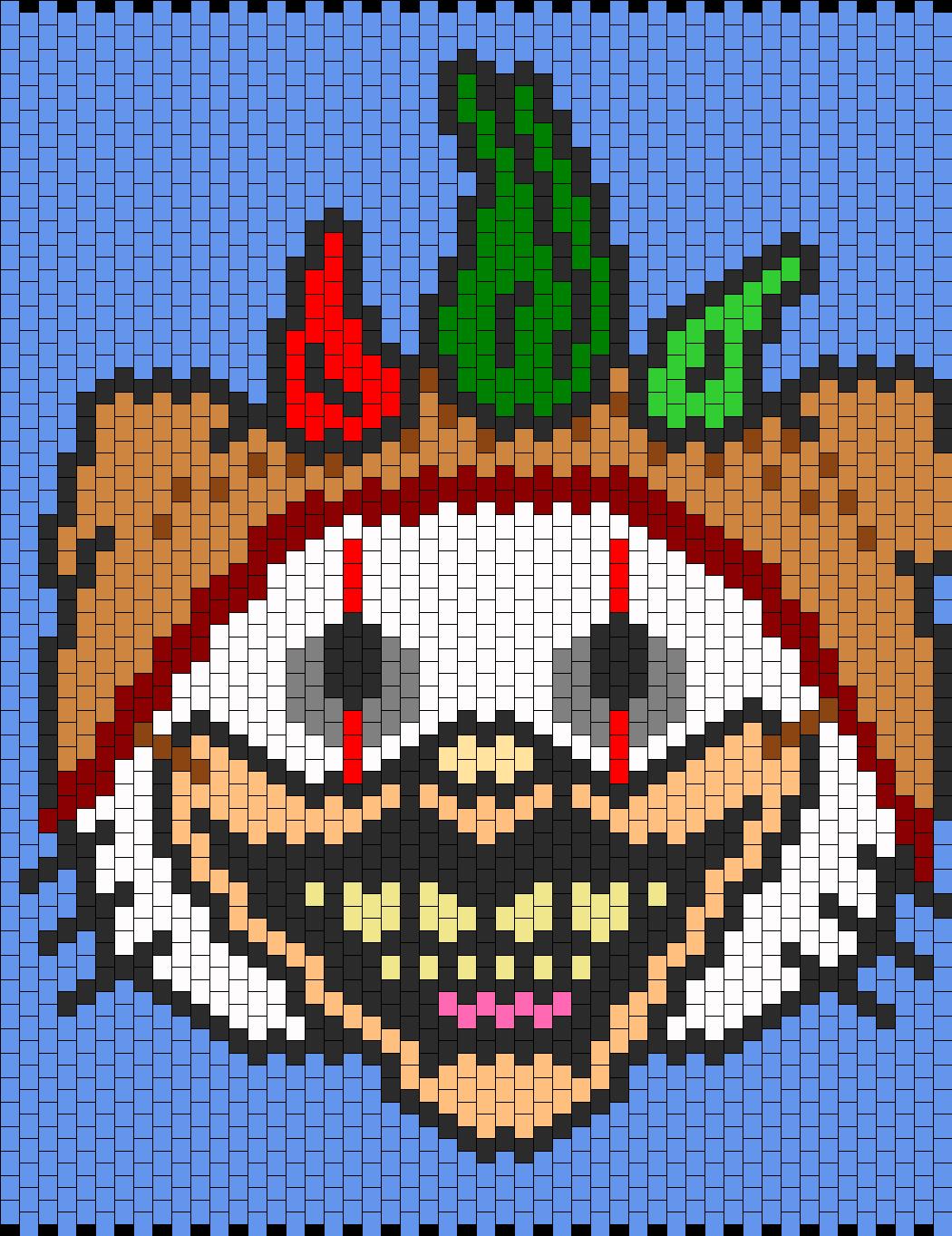 American Horror Storys Twisty The Clown Hello Kitty  Bead Pattern