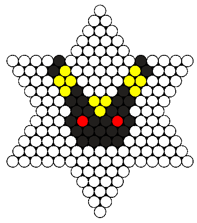 Tiny Umbreon Perler Bead Pattern / Bead Sprite