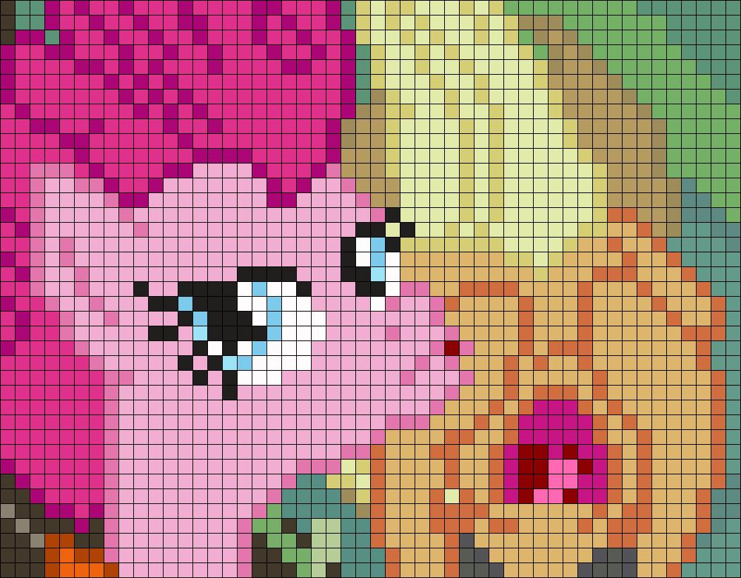 Pinkie Selfie Perler Bead Pattern / Bead Sprite