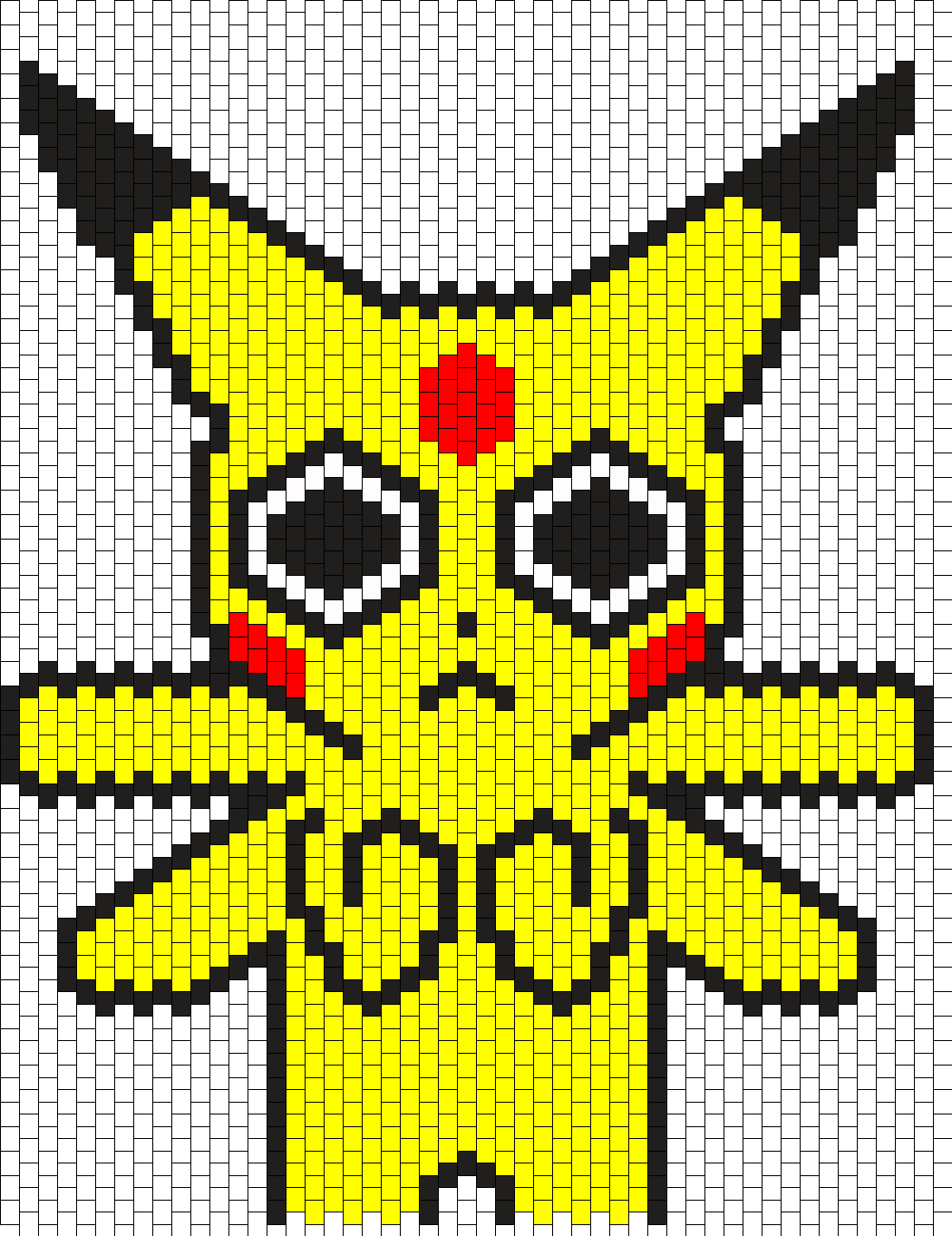 Pikachu On Acid Backpack Pattern
