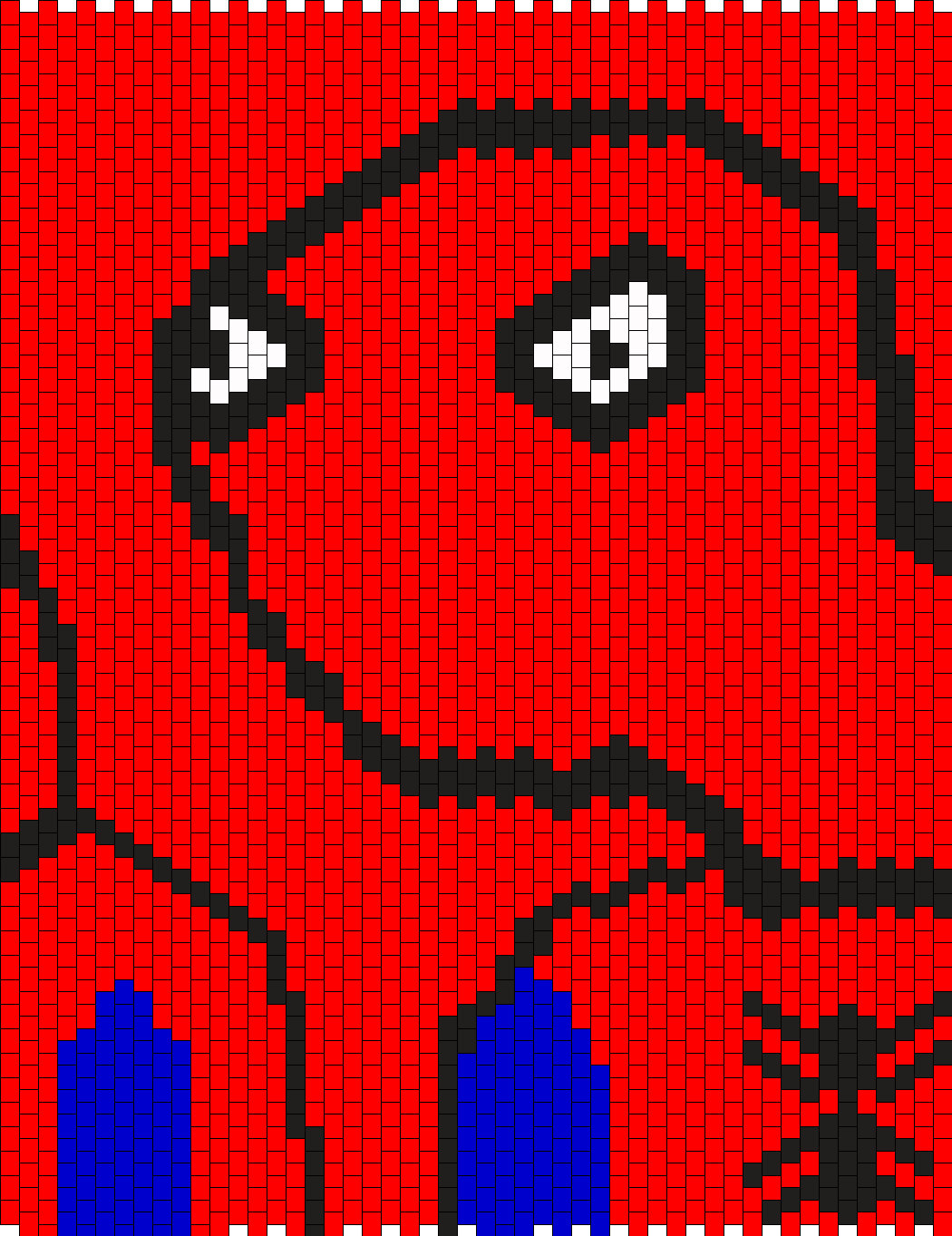 Spoderman Bead Pattern