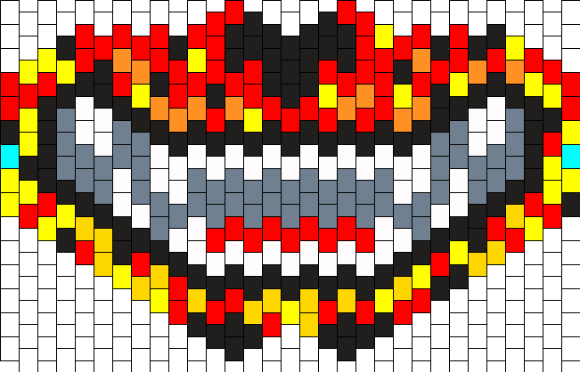 Fire Mess Cheshire Styled Mask