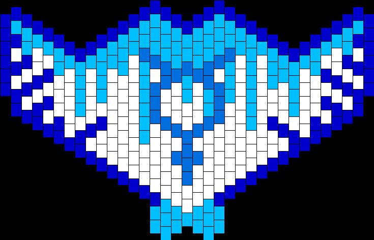 Sailor Mercury Water Mask Bead Pattern