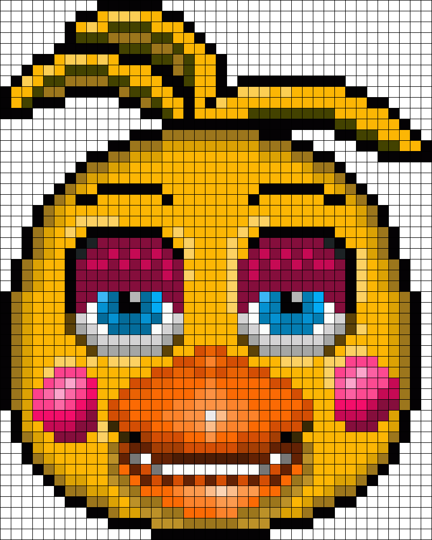 Toy Chica In Daytime Perler Bead Pattern / Bead Sprite