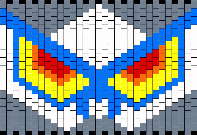 Junketsu Kandi Mask Bead Pattern