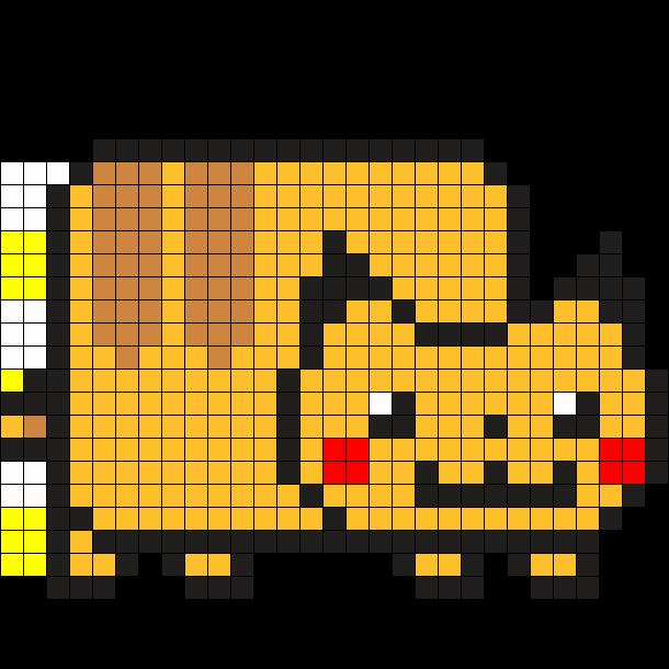Nyan Pikachu Perler Bead Pattern / Bead Sprite