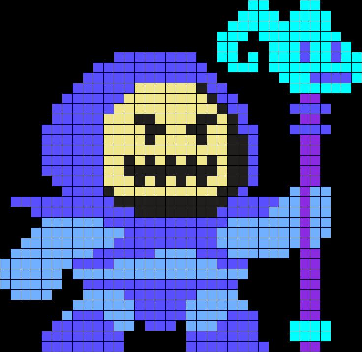 Skeletor Perler Bead Pattern / Bead Sprite