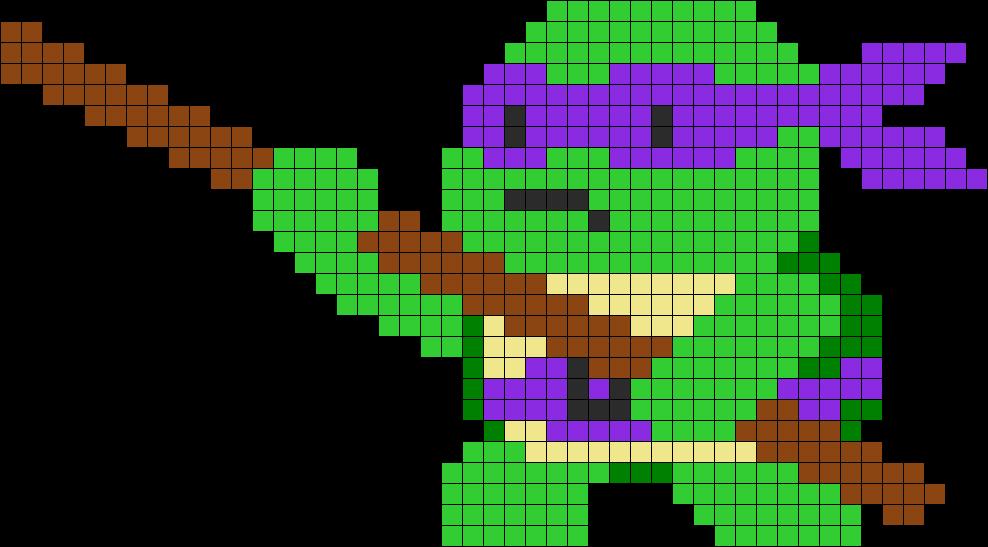 Donatello Tmnt Perler Bead Pattern / Bead Sprite