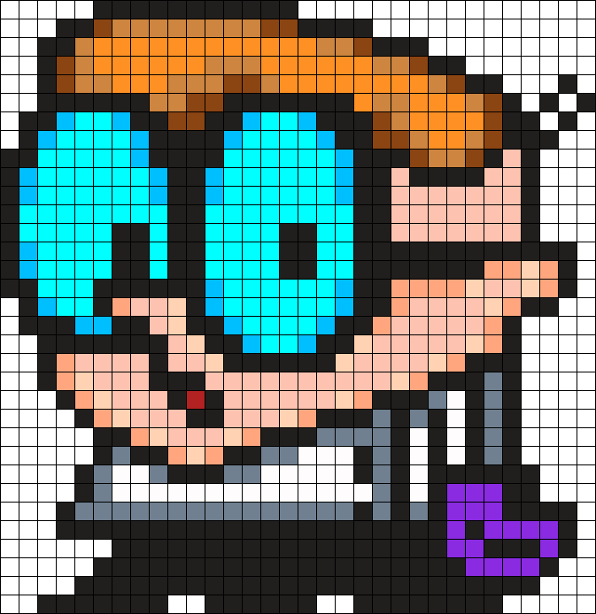 Dexter Perler Bead Pattern / Bead Sprite