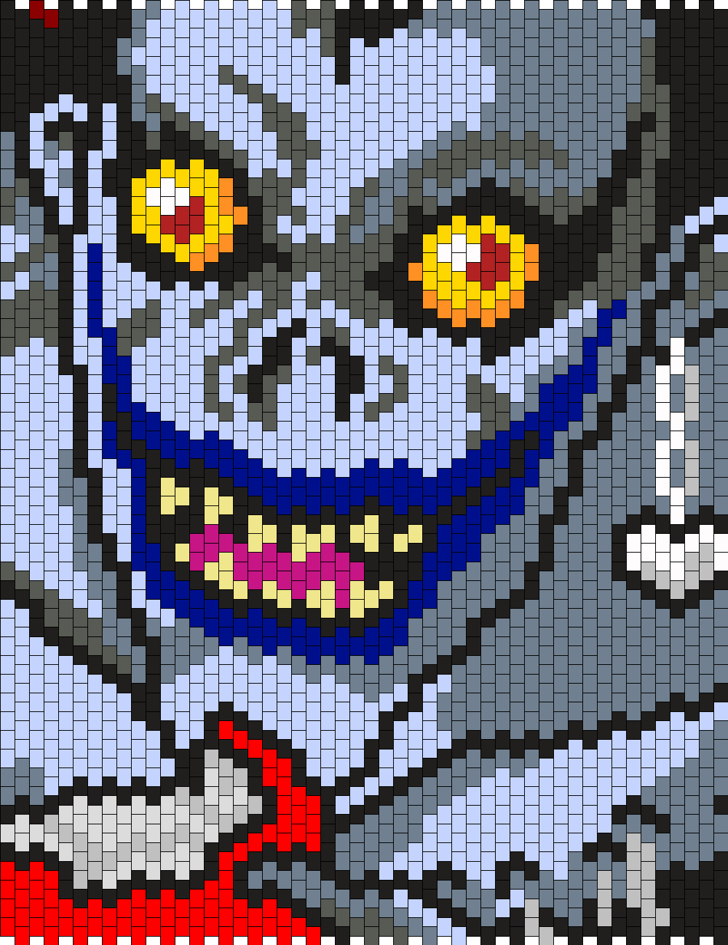 Ryuk From Death Note Bead Pattern