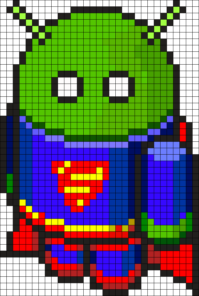 Bugdroid Superman