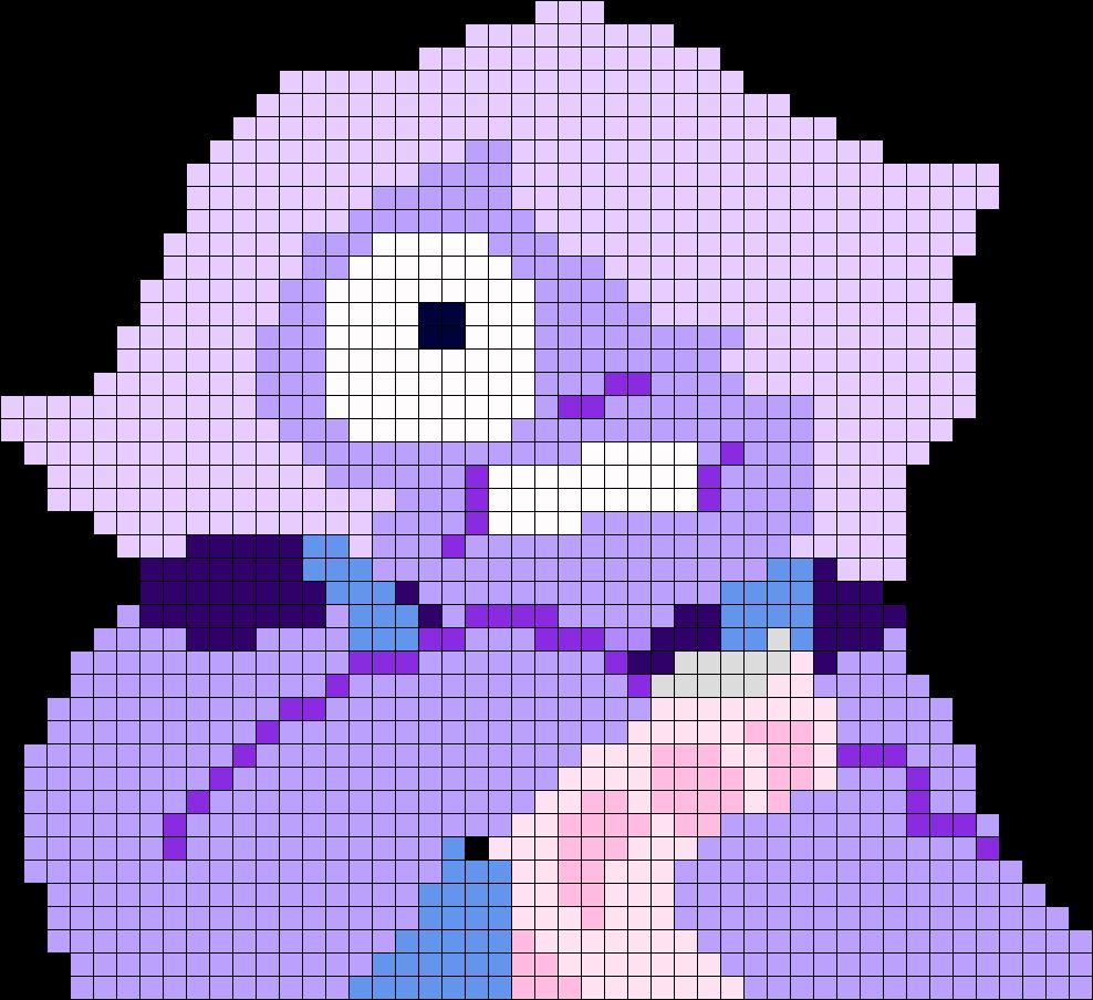 Amethyst Steven Universe Perler Bead Pattern / Bead Sprite