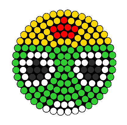 Keroro Perler Bead Pattern / Bead Sprite
