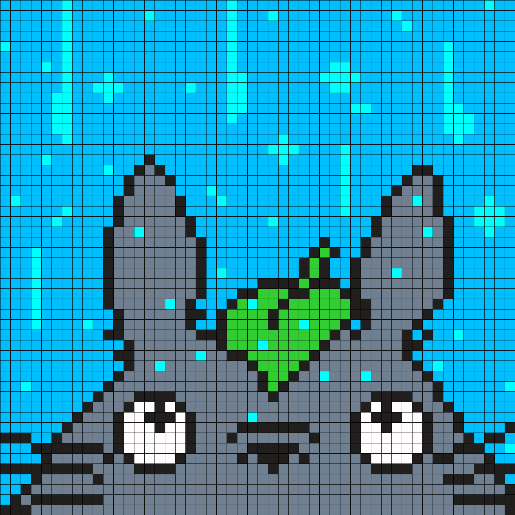 Totoro In The Rain Square
