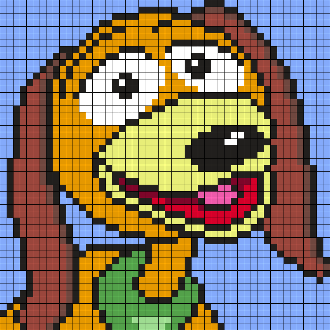 Slinky Dog From Toy Story Perler Bead Pattern / Bead Sprite