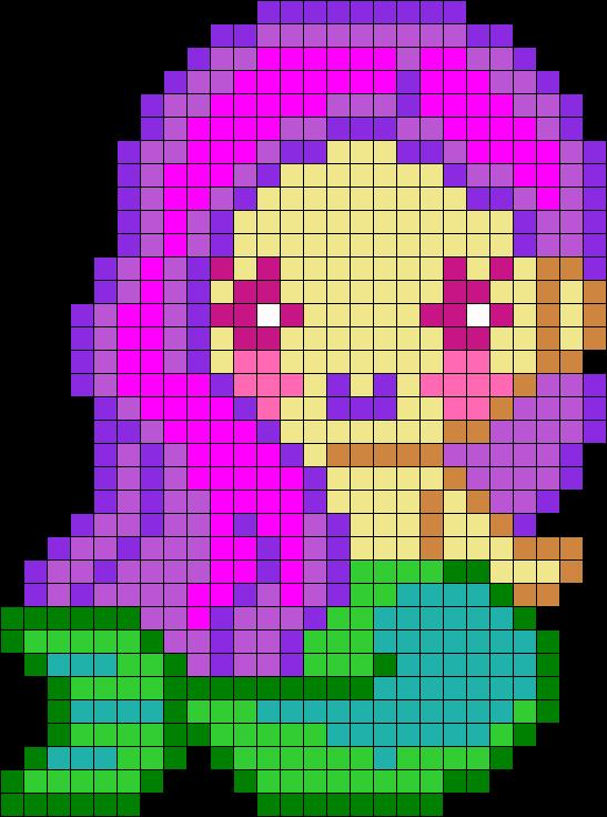 Mermaid Perler Perler Bead Pattern / Bead Sprite